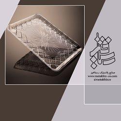 سینی کریستال مستطیل الماس کد30*40